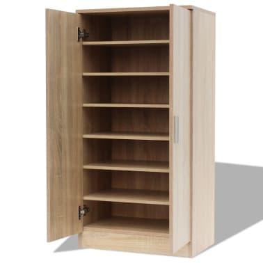 vidaXL Mueble zapatero con 7 estantes de roble[4/7]