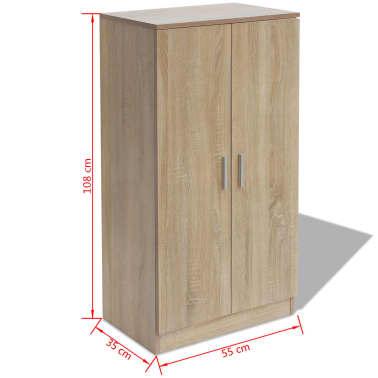 vidaXL Mueble zapatero con 7 estantes de roble[7/7]