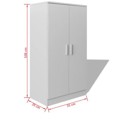vidaXL Mueble zapatero blanco con 7 estantes[7/7]