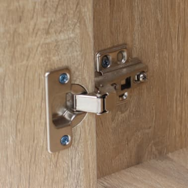 vidaXL Desk with Drawer and Cabinet Oak 100x40x73 cm[5/6]