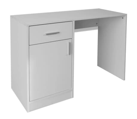 vidaXL Desk with Drawer and Cabinet White 100x40x73 cm