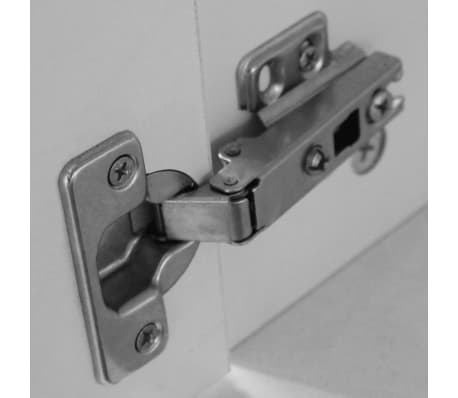 vidaXL Desk with Drawer and Cabinet White 100x40x73 cm[5/6]