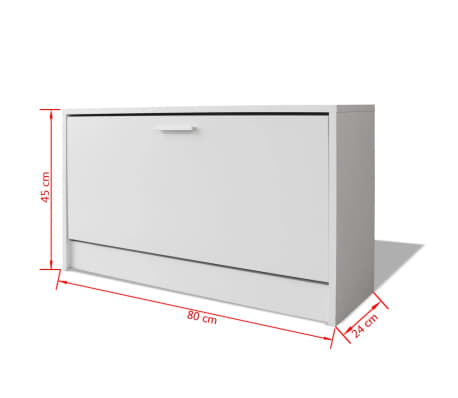 Terrific Vidaxl Shoe Storage Bench White 80X24X45 Cm Inzonedesignstudio Interior Chair Design Inzonedesignstudiocom