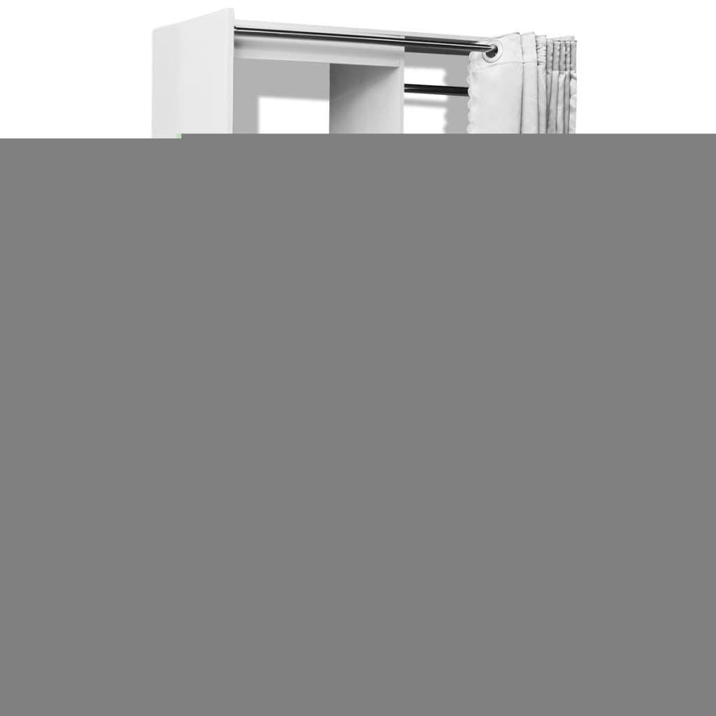 999243052 Kleiderschrank mit Vorhang breitenverstellbar 121-168 cm Weiß