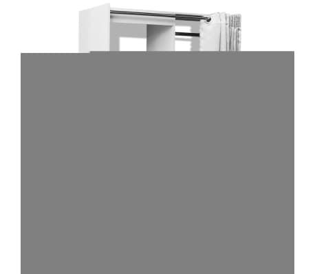 vidaxl kleiderschrank mit vorhang breitenverstellbar 121 168 cm wei im vidaxl trendshop. Black Bedroom Furniture Sets. Home Design Ideas