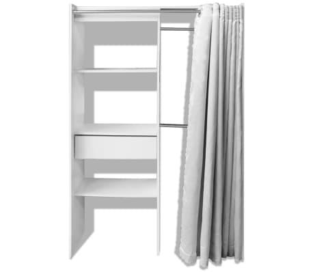 vidaxl kleiderschrank vorhang garderobe schlafzimmer schrank b 121 168cm wei ebay. Black Bedroom Furniture Sets. Home Design Ideas