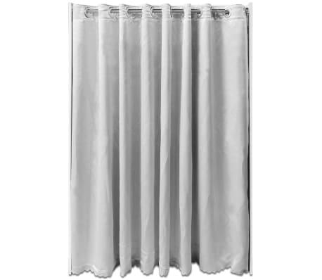 vidaXL Kleiderschrank mit Vorhang breitenverstellbar 121-168 cm Weiß ...