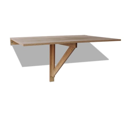 vidaXL væghængt klapbord egetræ 100 x 60 cm[2/6]