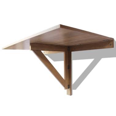 vidaXL væghængt klapbord egetræ 100 x 60 cm[4/6]