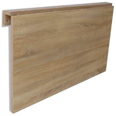 vidaXL væghængt klapbord egetræ 100 x 60 cm[5/6]