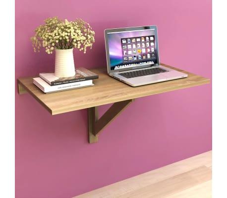 vidaXL væghængt klapbord egetræ 100 x 60 cm[1/6]