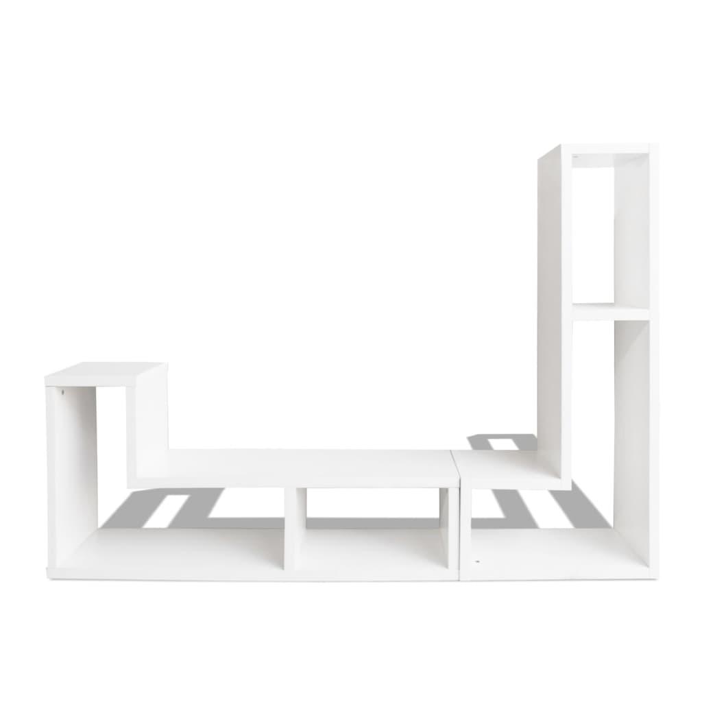 Tv-meubel dubbel L-vormig wit