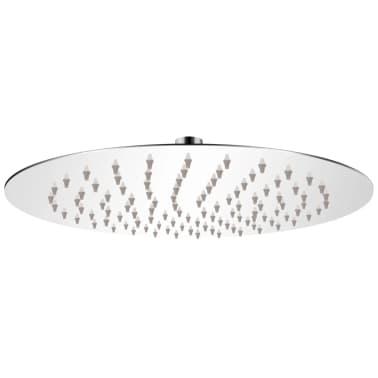 vidaXL Cap de duș rotund tip ploaie, oțel inoxidabil, 25 cm[1/6]