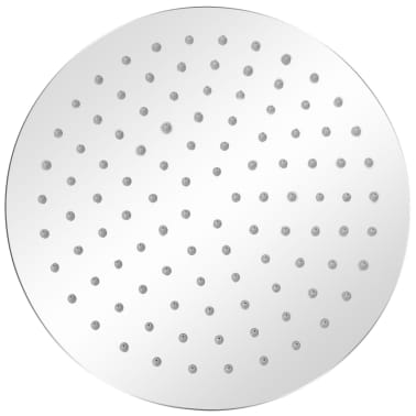 vidaXL Nerūdijančio plieno dušo galvutė, Rain, 25 cm, Apvali[2/6]