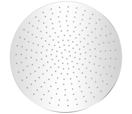 vidaXL Takduschhuvud rostfritt stål 40 cm rund[2/6]
