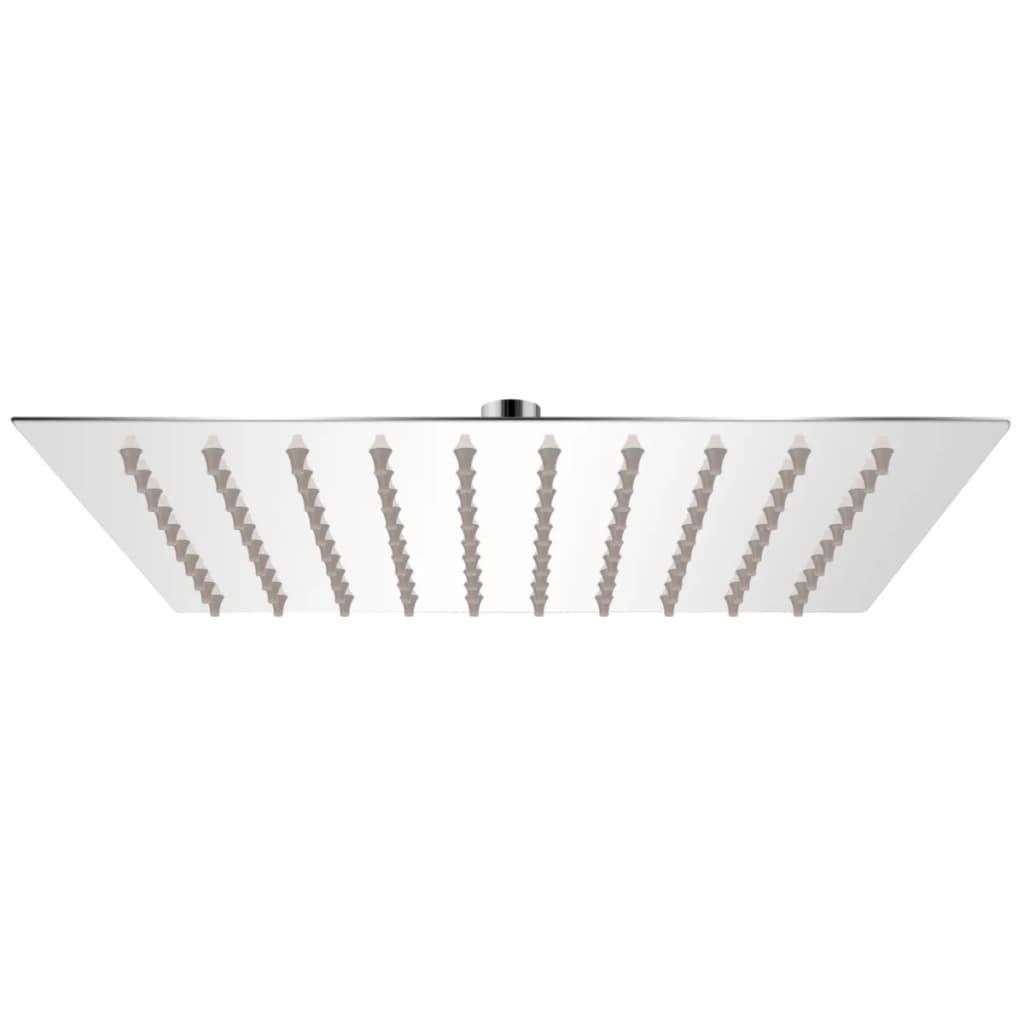 vidaXL Cap de duș pătrat tip ploaie, oțel inoxidabil, 20x20 cm poza vidaxl.ro