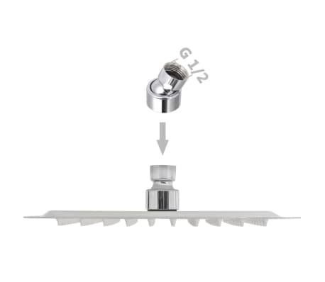 vidaXL Nerūdijančio plieno dušo galvutė, Rain, 20 x 20 cm, Kvadratinė[6/6]