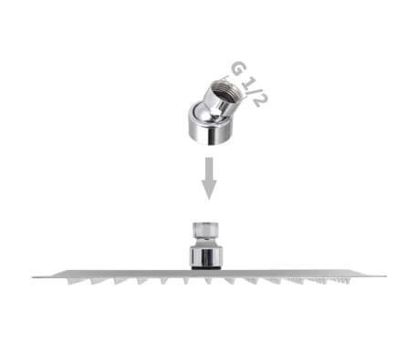 vidaXL Nerūdijančio plieno dušo galvutė, Rain, 25 x 25 cm, Kvadratinė[6/6]
