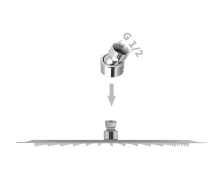 vidaXL Regenduschkopf Edelstahl 30x30 cm Quadratisch[6/6]