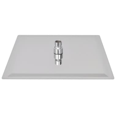 vidaXL Regenduschkopf Edelstahl 30x30 cm Quadratisch[3/6]
