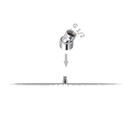 vidaXL Nerūdijančio plieno dušo galvutė, Rain, 50 x 50 cm, Kvadratinė[6/6]