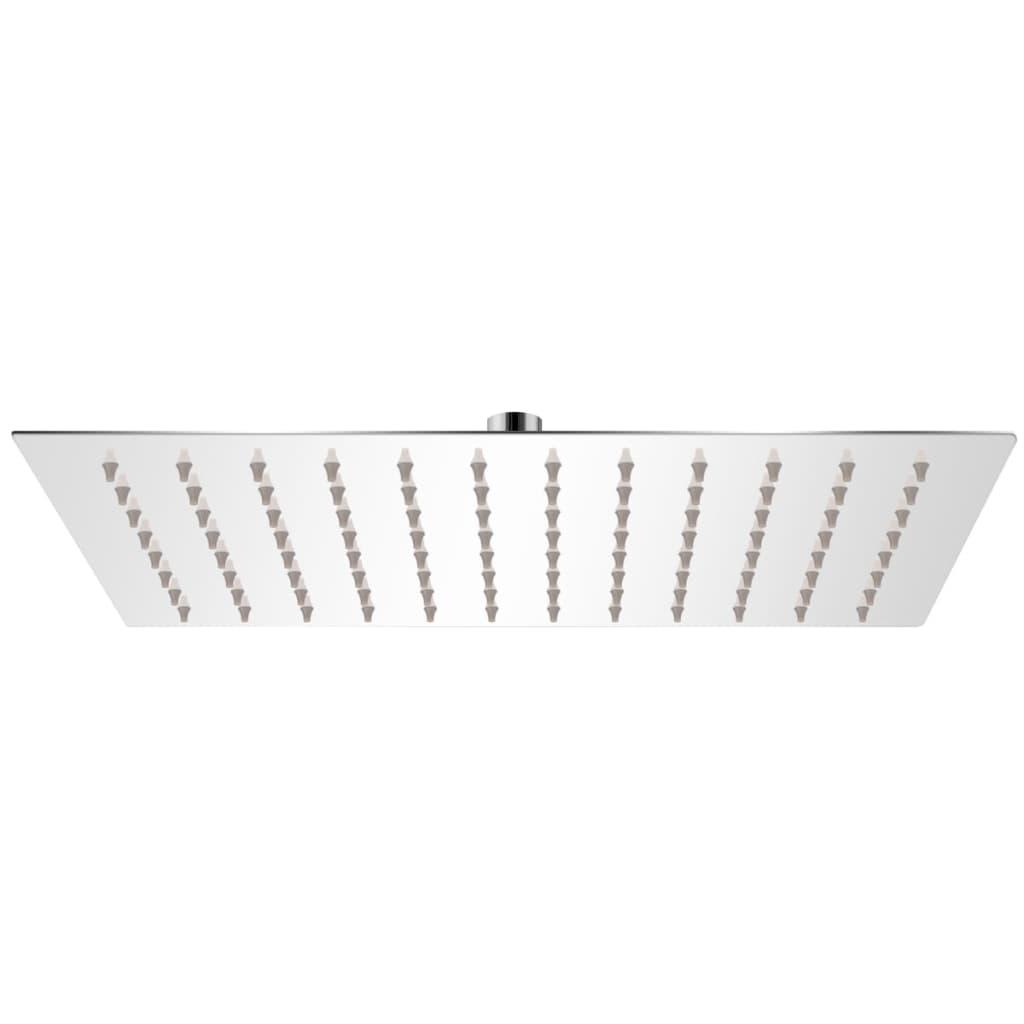 vidaXL Cap de duș dreptunghiular tip ploaie, oțel inoxidabil, 20x30 cm poza vidaxl.ro