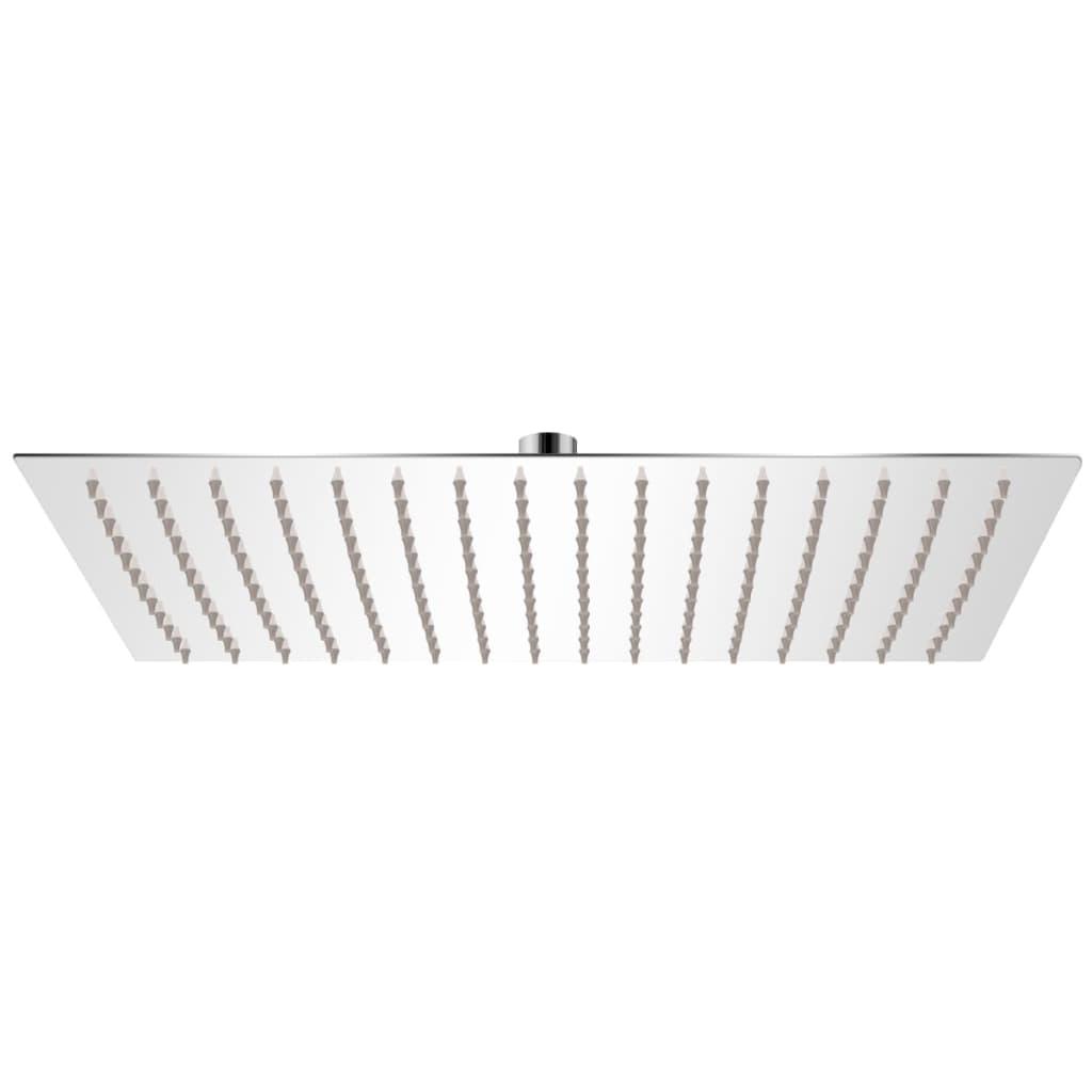 vidaXL Cap de duș dreptunghiular tip ploaie, oțel inoxidabil, 30x40 cm poza vidaxl.ro
