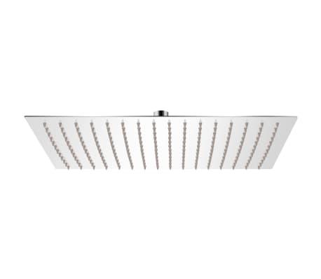 vidaXL Słuchawka prysznicowa ze stali nierdzewnej 30x40 cm prostkątna