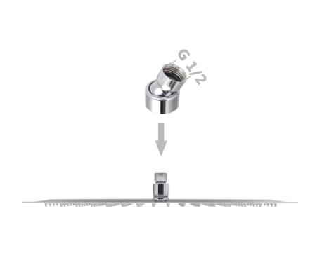 vidaXL Nerūdijančio plieno dušo galvutė, Rain, 30x40 cm, Stačiakampė[6/6]