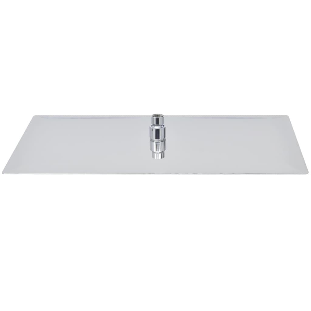 vidaXL Regendouchekop rechthoekig 30x50 cm roestvrij staal