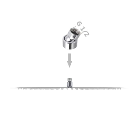 vidaXL Takduschhuvud rostfritt stål 30 x 50 cm rektangulärt[6/6]