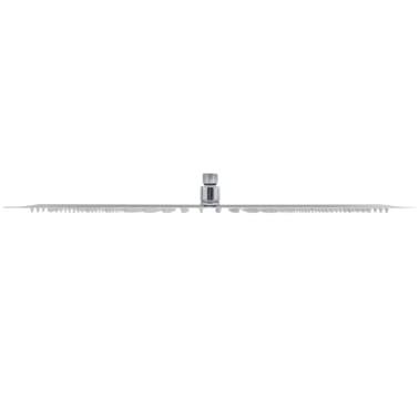 vidaXL Takduschhuvud rostfritt stål 30 x 50 cm rektangulärt[4/6]