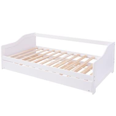 vidaxl ausziehsofa schlafcouch pinienholz wei 200x90 cm. Black Bedroom Furniture Sets. Home Design Ideas