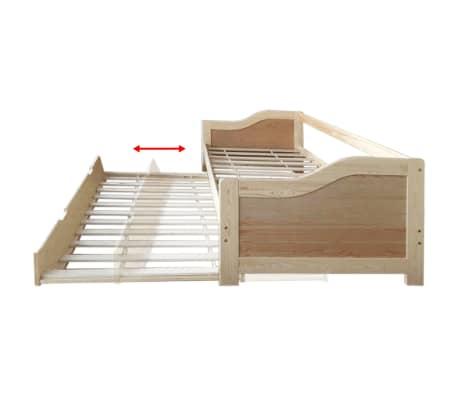Vidaxl Rozkładana Rama łóżkasofy Drewno Sosnowe 90x200 Cm