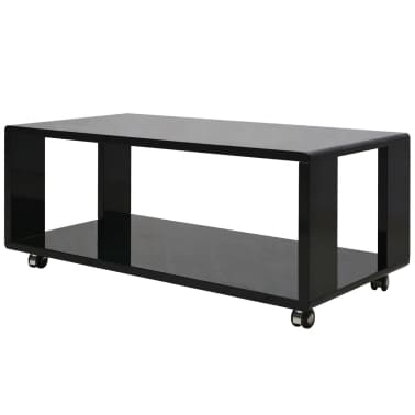 vidaxl table basse noire haute brillance. Black Bedroom Furniture Sets. Home Design Ideas