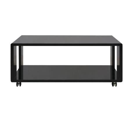 vidaXL Kavos staliukas, labai blizgus, juodas[2/3]