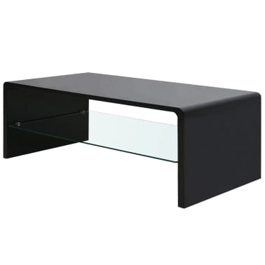 vidaXL High Gloss Coffee Table Black[1/4]