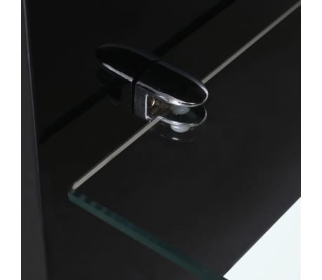 vidaXL High Gloss Coffee Table Black[3/4]