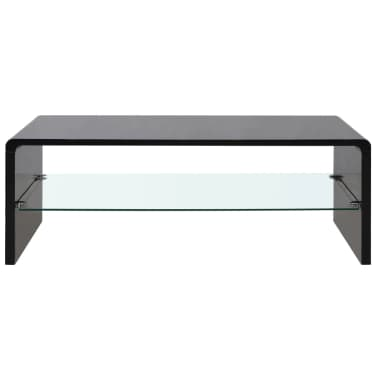 vidaXL High Gloss Coffee Table Black[2/4]
