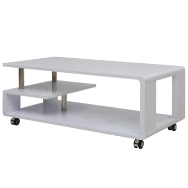 Vidaxl High Gloss Coffee Table White Vidaxlcom