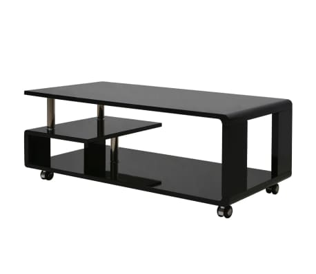 vidaXL Table basse brillante Noir[1/3]