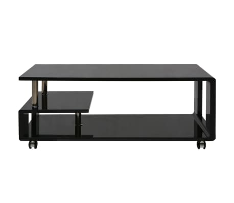 vidaXL Table basse brillante Noir[2/3]