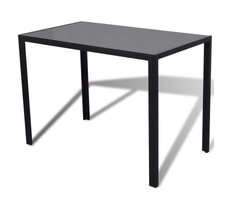 vidaXL Ensemble de table pour salle à manger cinq pièces noir[3/6]