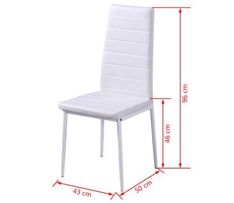 vidaXL 5 dalių valgomojo stalo ir kėdžių komplektas, baltas/juodas[7/8]