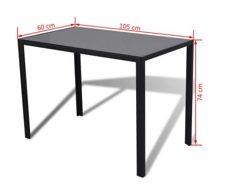 vidaXL 5 dalių valgomojo stalo ir kėdžių komplektas, baltas/juodas[8/8]