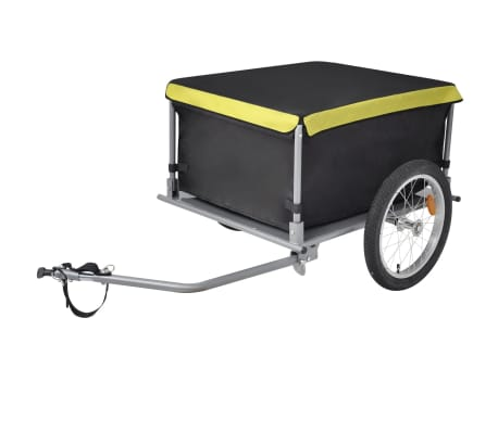 vidaXL cykelanhænger sort og gul 65 kg[1/6]