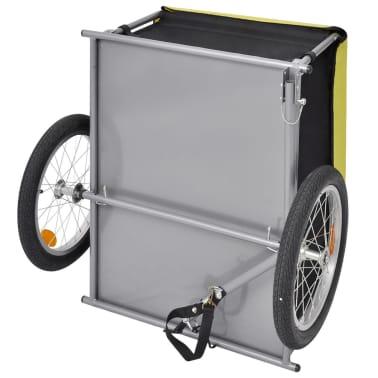 vidaXL Fahrrad-Lastenanhänger Schwarz und Gelb 65 kg[4/6]