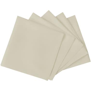 vidaXL Pietų stalo servetėlės, 10 vnt., kremo spalvos, 50x50 cm[2/4]