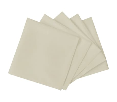 vidaXL Jedálenské servítky, 50 ks, krémové, 50x50 cm[2/4]