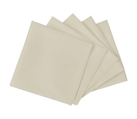 vidaXL Pietų stalo servetėlės, 100 vnt., kremo spalvos, 50x50 cm[2/4]